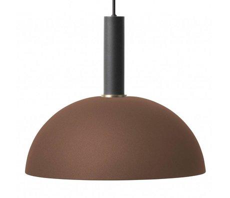 Ferm Living Suspension Dome haut métal noir brun rouge