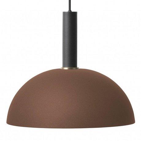 Ferm Living Hanglamp Dome high rood bruin zwart metaal