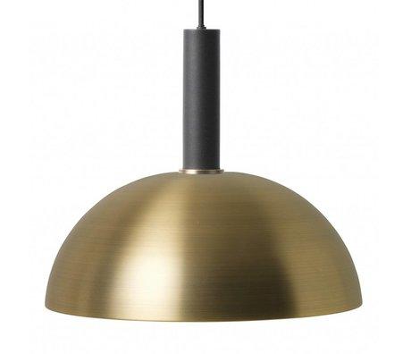 Ferm Living Hanglamp Dome high brass goud zwart metaal
