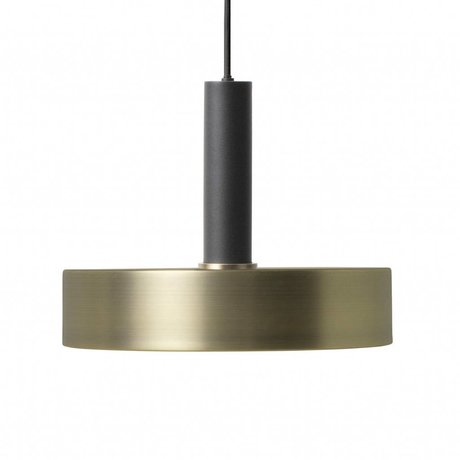 Ferm Living Hanging lamp Record high brass gold black metal