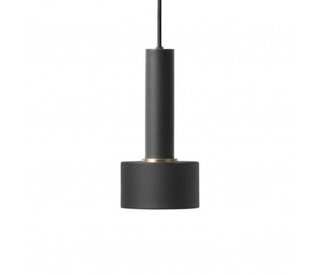 Ferm Living Hanging lamp Disc high black metal