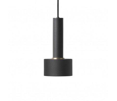 Ferm Living Lampe à suspension disque haut métal noir