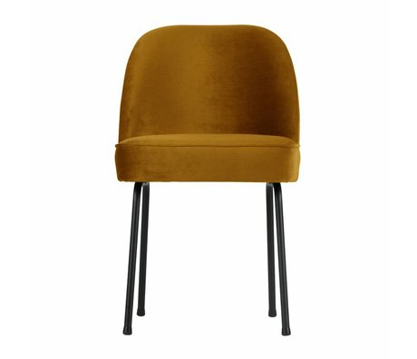 BePureHome Dining chair Vogue mustard yellow velvet 82,5x50x57cm
