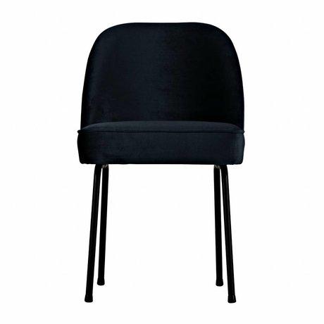 BePureHome chaise à manger encre Vogue velours bleu 82,5x50x57cm