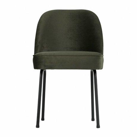 BePureHome Eetkamerstoel Vogue onyx grijs groen fluweel 82,5x50x57cm