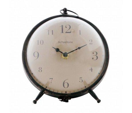 BePureHome Clock Babbel vintage black metal 17,5x17x17cm