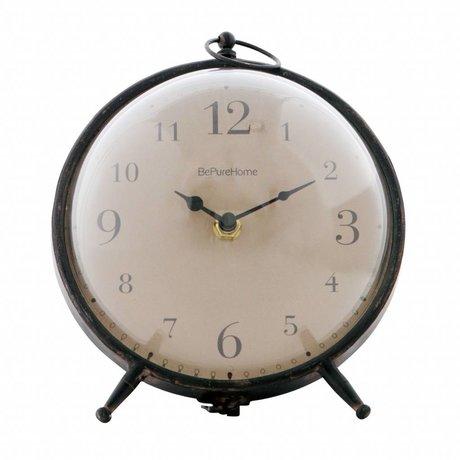 BePureHome Babbel Uhr Vintage Black Metal 17,5x17x17cm