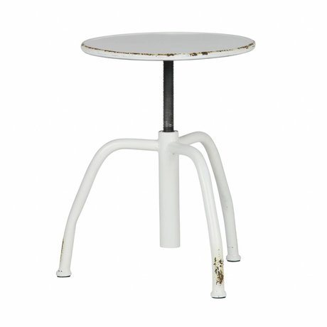 BePureHome Stool Damage white metal 41x42x42cm