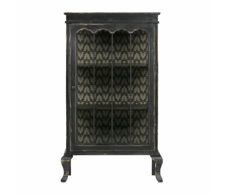 BePureHome Vitrinekast Odd zwart hout 114,5x67,5x39,5cm