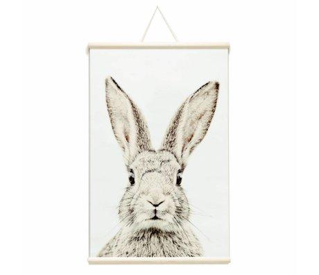 Groovy Magnets Magneetposter konijn vinyl met ijzerdeeltjes 62x95cm