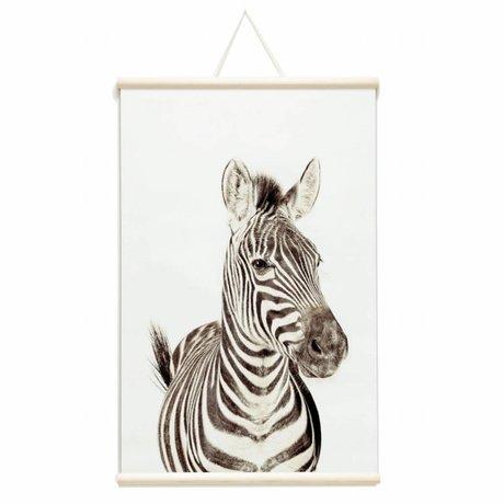 Groovy Magnets Magnetisches Poster Zebra Vinyl mit Eisen Partikel 62x95cm