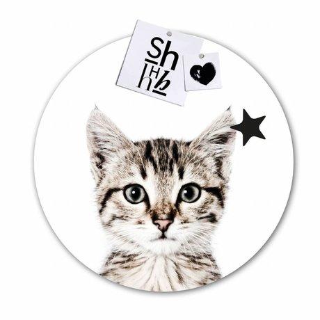 Groovy Magnets Magnet Aufkleber cat selbstklebendes Vinyl mit Eisenteilchen Ø60cm