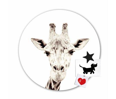 Groovy Magnets Magnet Aufkleber giraffe selbstklebendes Vinyl mit Eisenteilchen Ø60cm