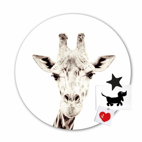 Groovy Magnets Magnet sticker giraffe self-adhesive vinyl with iron particles ø60cm
