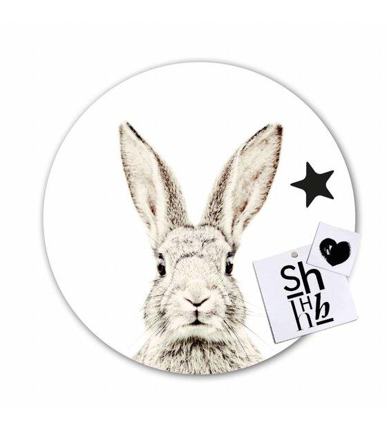 Super Magneetsticker konijn zelfklevend vinyl met ijzerdeeltjes ø60cm KY-96