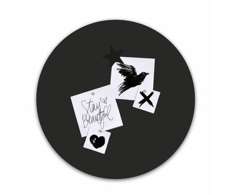 Groovy Magnets Magnetaufkleber schwarz selbstklebendes Vinyl mit Eisenteilchen ø60cm