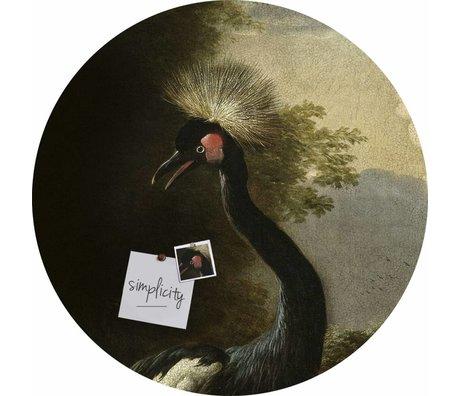 Groovy Magnets Magnet Aufkleber majestätisch crane selbstklebendes Vinyl mit Eisenteilchen Ø60cm
