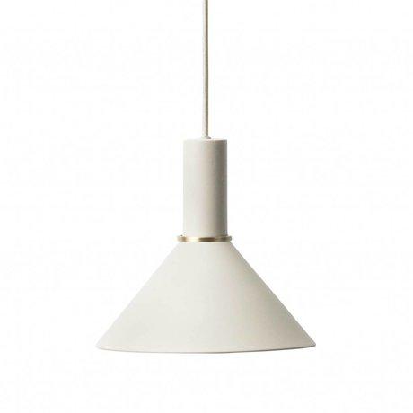 Ferm Living Lampe à suspension Cone faible métallique gris clair