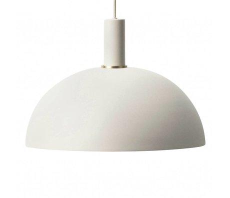 Ferm Living Lampe à suspension Dôme bas métallique gris clair