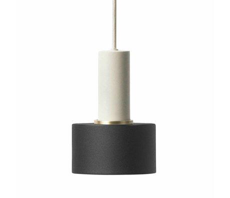 Ferm Living Lampe à suspension disque faible métallique gris clair noir