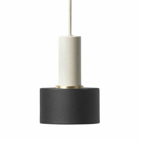 Ferm Living Hanging lamp Disc low black light gray metal