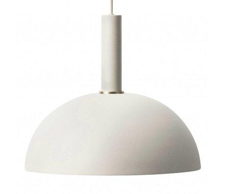 Ferm Living Suspension Dome haute lumière gris métallisé