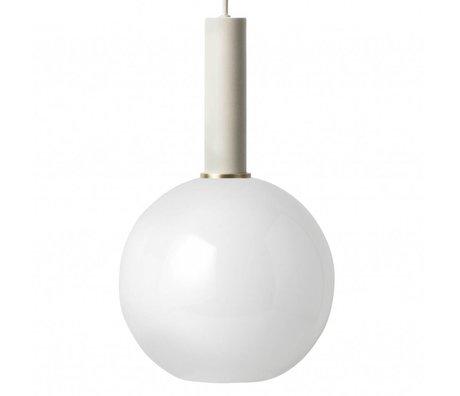 Ferm Living Hanglamp opal sphere high licht grijs metaal glas