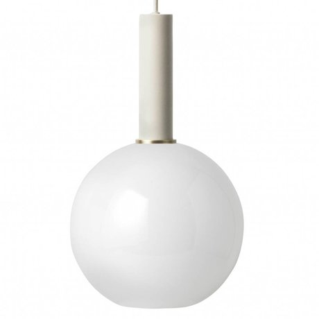 Ferm Living Pendant light opal sphere high light gray metal glass