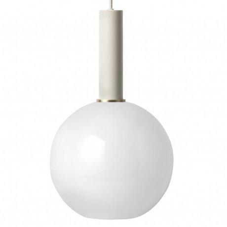 Ferm Living sphère d'opale Lampe à suspension à haute verre métallique gris clair