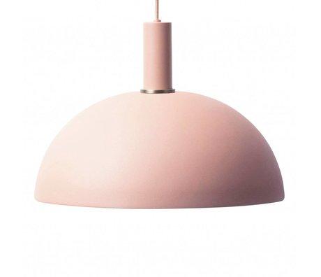 Ferm Living Lampe à suspension Dôme bas métal rose