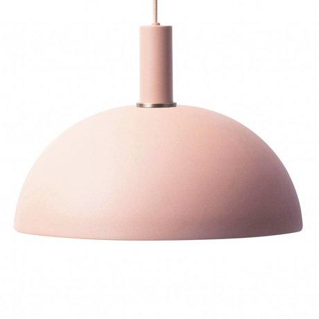 Ferm Living Hanglamp Dome low roze metaal