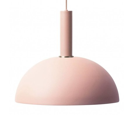 Ferm Living Hanglamp Dome high roze metaal