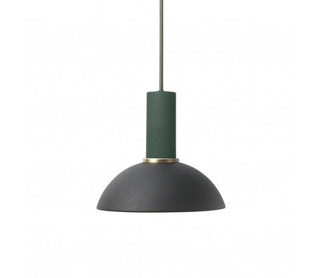 Ferm Living Hanglamp Hoop low zwart donker groen metaal