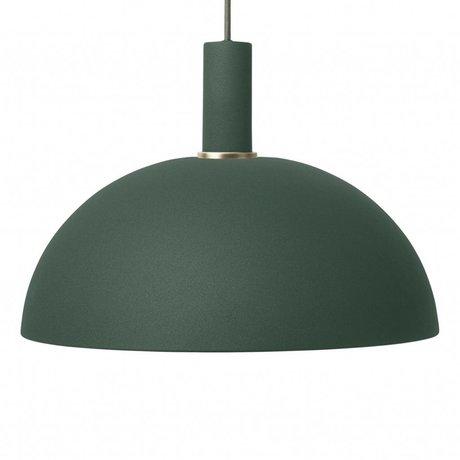 Ferm Living Hanglamp Dome low donker groen metaal