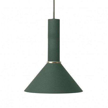 Ferm Living Hanging lamp Cone high dark green metal