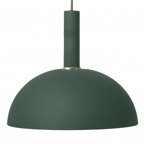 Ferm Living Hanglamp Dome high donker groen metaal