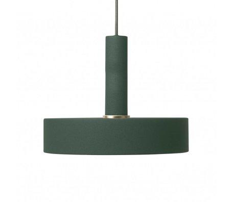Ferm Living Record lumière pendentif en métal vert foncé