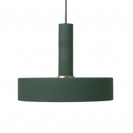 Ferm Living Hanging lamp Record high dark green metal