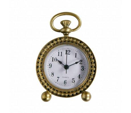 BePureHome Clock Moment antique brass gold metal 11,5x8x3cm