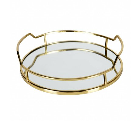 BePureHome Tray Luxurious gold metal 8x34x33cm
