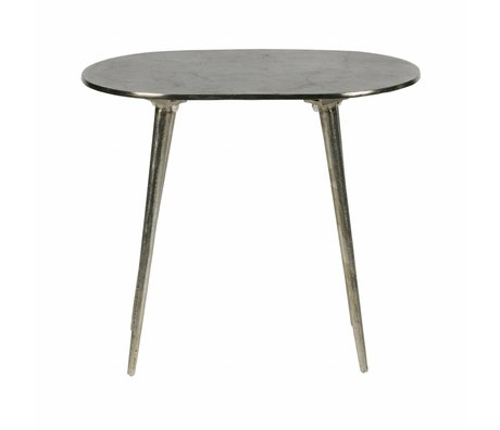 BePureHome Table d'appoint burished métal or brillant 37,5x44x30,5cm