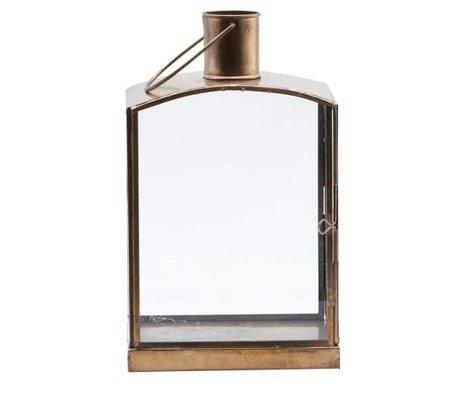 Housedoctor Laterne Orgi antike Bronze Eisen 16,5x11x27cm
