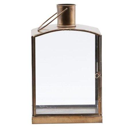 Housedoctor Lanterne Orgi bronze antique 16,5x11x27cm de fer