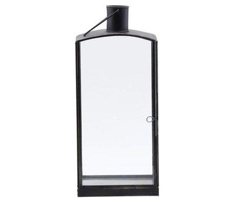 Housedoctor Lantaarn Orgi zwart ijzer 16,5x11x36cm