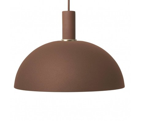 Ferm Living Dome light dome red brown red