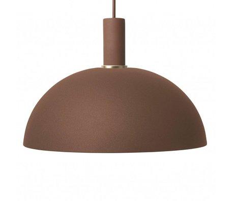 Ferm Living Suspension Dome bas métal brun rouge