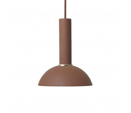 Ferm Living Espoir lampe pendentif haute métal brun rouge