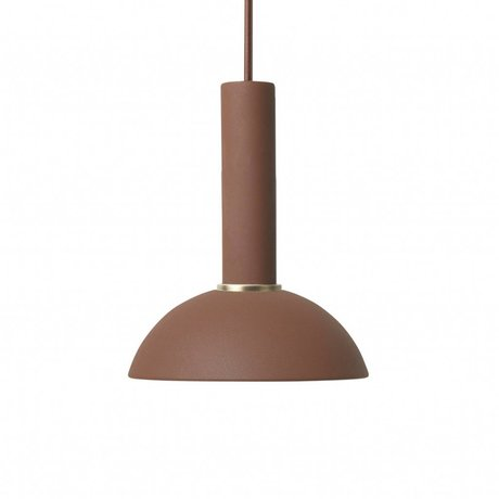 Ferm Living Hanglamp Hoop high rood bruin metaal