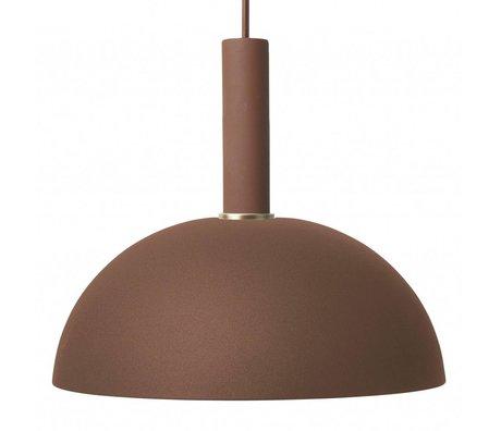 Ferm Living Suspension dôme haute métal brun rouge