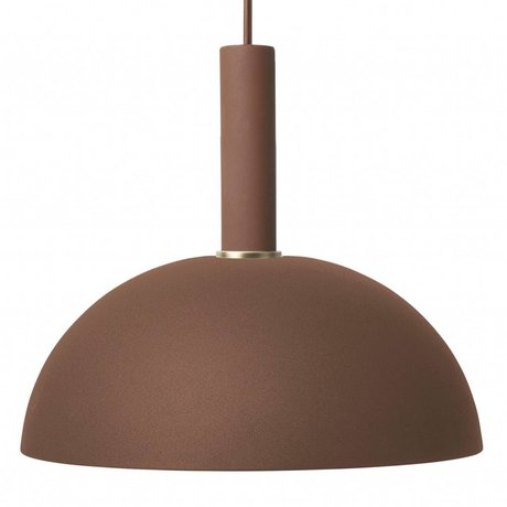 Ferm Living Dome light dome high red brown metal